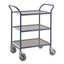 Servierwagen Tablettwagen 770 x 495 mm - blau/anthrazit